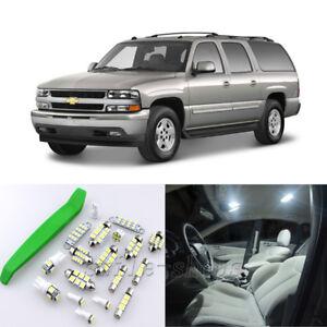 HID White 21pcs Interior LED Light Kit for 00-06 Chevrolet Suburban + Free Tool