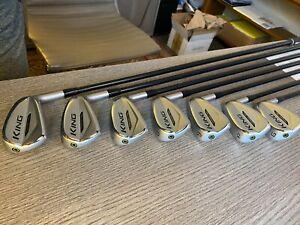 Cobra King Forged Tec Irons 5-G - RH Regular/Stiff - Project X LZ 5.5 - Arccos