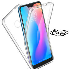 Full Cover Case for Xiaomi Redmi 5 Plus Bumper Back Soft Round Protection Clear