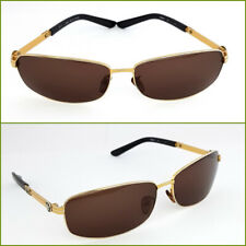 Mont Blanc Sunglasses Authentic MB69S italy Made Rare Gold frame brown lens Men