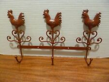 Red Roosters Three Hook Wall Hanger