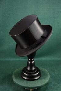Schöner alter Chapeau Claque Zylinder, Klappzylinder, Größe 60, guter Zustand