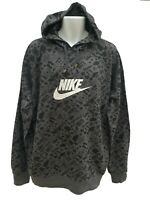 New Vintage NIKE Sportswear NSW Cotton Pullover Hoodie Dark Grey XXLT