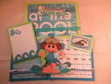 SWIMMING LESSONS 3D PAPER PIECING  SCRAPBOOK PAGE MAT SET