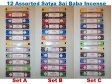 12 Packs Satya Sai Baba Genuine Incense Joss Sticks Nag Champa 15g - Choose Set