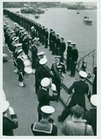 King Gustaf VI Adolf and Queen Louise's England Visit 1955. - Vintage photo