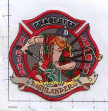 North Carolina - Charlotte Station 31 NC Fire Dept Patch - Highlanders