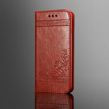 Luxury Patterned Leather Case Magnetic Flip Card Wallet Cover For iPhone/Samsung