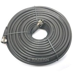 Steren 100 ft Gray RG8X Mini-8 Coax Coaxial PL259 UHF Ham CB Radio Antenna Cable