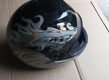 Motorcycle Helmet Fulmer Size S Black, Full w Dragon Graphics