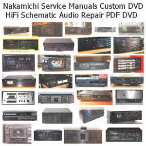 Nakamichi Service Manuals PDF DVD Cassette Deck Schematics HiFi Audio Repair !!