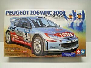 TAMIYA PEUGEOT 206 WRC 2002 WINNER VERSION Kit # 24262 SEALED