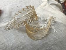 New listing 2 murano Venetian Chandelier clear gold fleck Glass Replacement part @ 5 inches