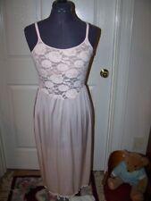 "80s Vintage OLGA ""Christina"" Slip / Nightgown-Bustier-Peach-Sz Med Tall-Made USA"