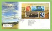 G.B. 2006 Celebrating Scotland m/s on Royal Mail First Day Cover, St Andrews