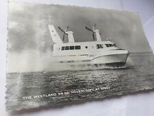 More details for antique & vintage postcard photo the westland sr.n2. hovercraft cowes