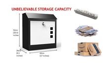 LARGE PARCEL/MAILlBOX Waterproof lockable, stylish NEVER- MISS PARCELS AGAIN...
