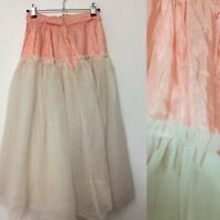 Vtg Net Petticoat Sz 8   3 Layers Of Net *flaw Needs Sewing See Description