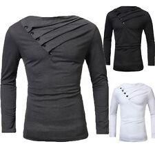 INCERUN Hommes Casual Slim Fit Manches Longues Sport T-shirt Tops Haut Chemise