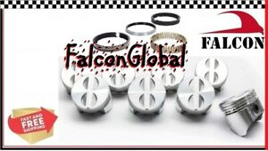 Chevy 283 Sealed Power/Federal Mogul Cast Flat Top 4VR Pistons+Rings Kit STD