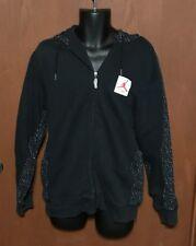 Jordan Flight Hooded Black Zip UP Jacket Coat Sz M ~*~ PLEASE READ ~*~TUB O