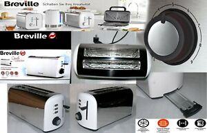 Breville Opula Familie XXL Langschlitz Toaster 1500W Krümelfach Polish Edelstahl