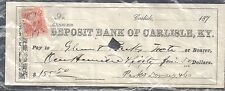 US  1817 pay check with revenue stamp