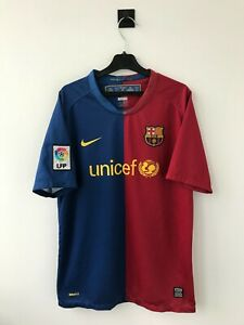 BARCELONA SPAIN 2008/2009 HOME FOOTBALL SHIRT SOCCER JERSEY NIKE CAMISETA !BOYS!