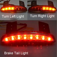 Fender Edge LED Tail Light Brake Turn Signals For Harley Sportster XL883 1200 48