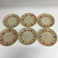 Vintage Red Wing Pepe Mid Century Modern Set of 6, 6 Inch Saucers