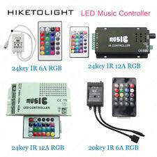 Sound Sensor IR RF Remote LED Music Controller for 3528 5050 RGB Strip Light 12V