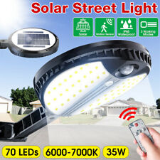 70 LED 35W Smart Solar Street Light Outdoor 360° PIR Motion Sensor Lam