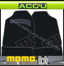 Momo Italy Genuine Grey Logo Black Luxury Quality Carpet Car Mats Set Of 4