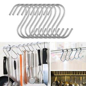 5/10/20pcs S Shaped Hook Kitchen Household Hanger Clasps Hooks Storage Rack