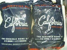 California Natural Bamboo Charcoal Air Fresh Purifying 8 Bags & 8 Hooks Set