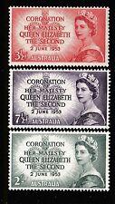 1953 CORONATION OF QUEEN ELIZABETH II PRE-DECIMAL STAMP SET - FRESH MUH
