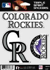 Colorado Rockies Die Cut Decals 3 Pack Car Window, Laptop, Tumbler MLB Rico