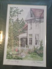 Signed Print`  Garden Party by Jeannie Catchpole 9 x 6