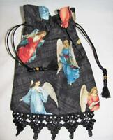 Victorian Angels Tarot Card Drawstring Mojo Bag Cotton Pouch ~ FREE SHIPPING
