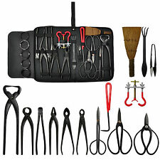 Bonsai Tool Set Kit Scissors Cutter Carbon Steel Shears Tree Branch Nylon Case