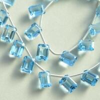 20 pieces sky blue quartz gemstone, drilled sky blue topaz size 10x12 mm OR-289