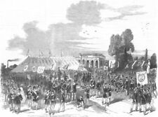 SURREY. Foresters mtg, Surrey zoo, antique print, 1851