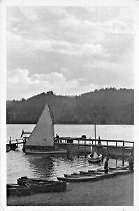 GERMANY~TITISEE im SUDL. HACHSCHARZWALD-ABEND am SEE~PHOTO-SAILBOATS POSTCARD