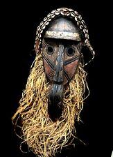 Arts of Africa  Incredible Kuba Helmet Mask — Amazing Craftsmanship — Aut (1450)