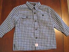 Ralph Lauren Polo Jeans Boys Blue Plaid Dress Collar Cotton L/S Shirt 2T  EUC