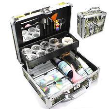 US Sale Indivedual False Eyelashes Extension Kit Glue Tool Fashion Case Full Set