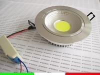 COB 9w 180° FARETTO DA INCASSO ORIENTABILE LED BIANCO FREDDO LUCE 220V 230V