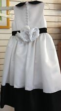 NEW BLACK TIE Formal Gown LADYBUG COLLECTION White FLOWER GIRL Dress ROSE 4 $300