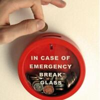 Emergency Break Glass Money Box Piggy Bank Gift Mens Boys Girl Xmas Gift - FI