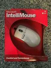 NEW Microsoft IntelliMouse PS/2 PS2 Mouse Wheel Scrolling Ergo Design